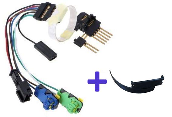 Nappe FFC complète avec connecteurs pré-montés et languette pour contacteur tournant Megane 2, Scenic 2